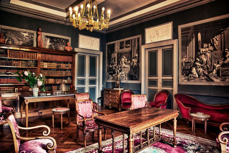 Salon Rouge in a Victorian home