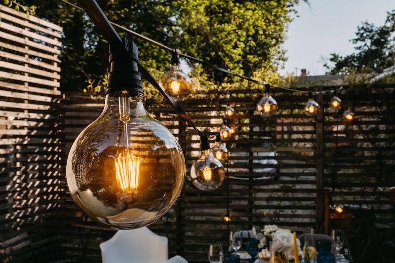 string lights backyard edison