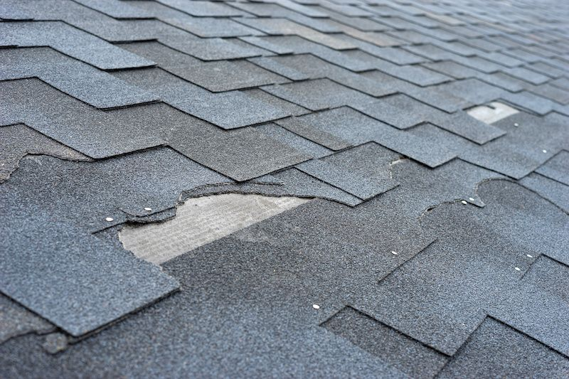 grey attic shingles