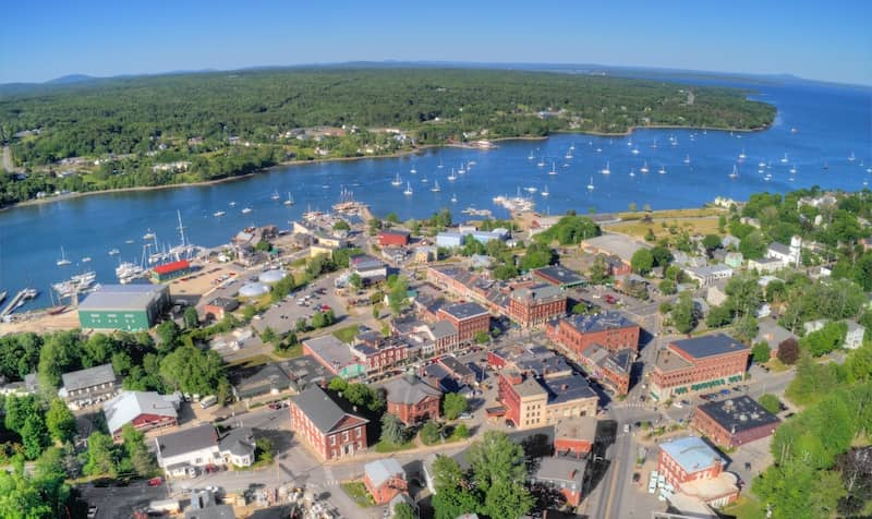 Aerial view of Belfast Maine