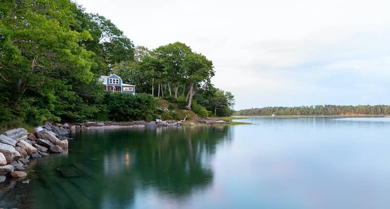 House on coast of Brunswick Maine