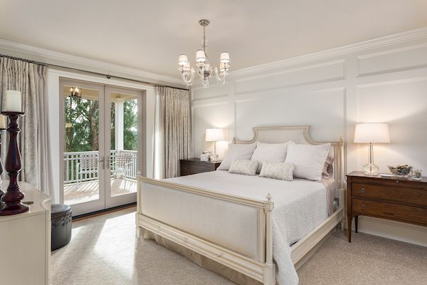 French antique style bedroom.