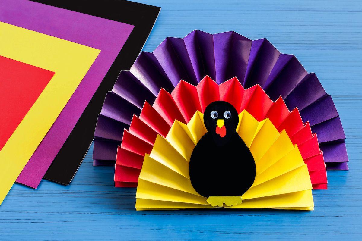 Handmade paper turkey.