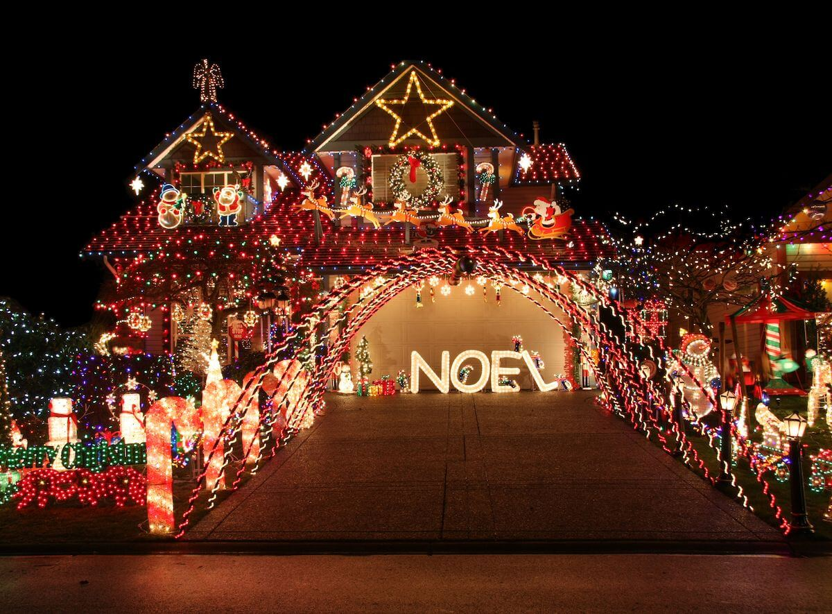 Over-the-top Christmas lights.