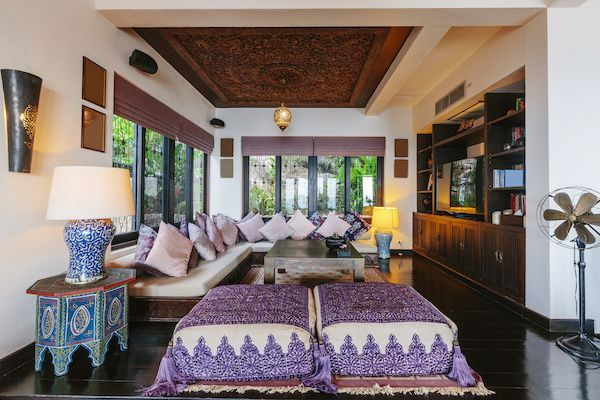 Indian-style living room.