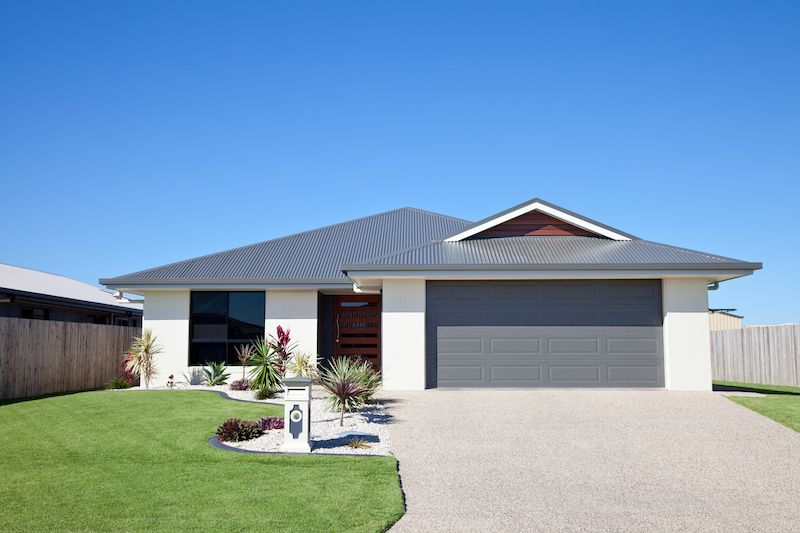 exterior of mid century modern suburban home