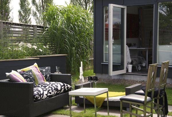 Modern patio setup.