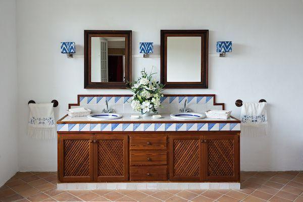 Spanish-inspired bathroom.