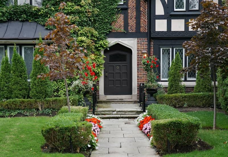 tudor style front door