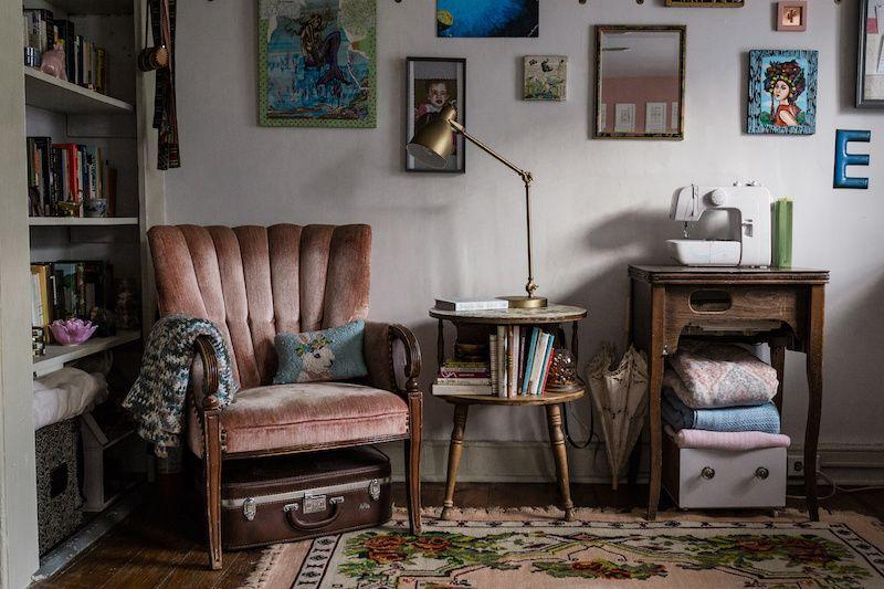 Antique and vintage furniture.