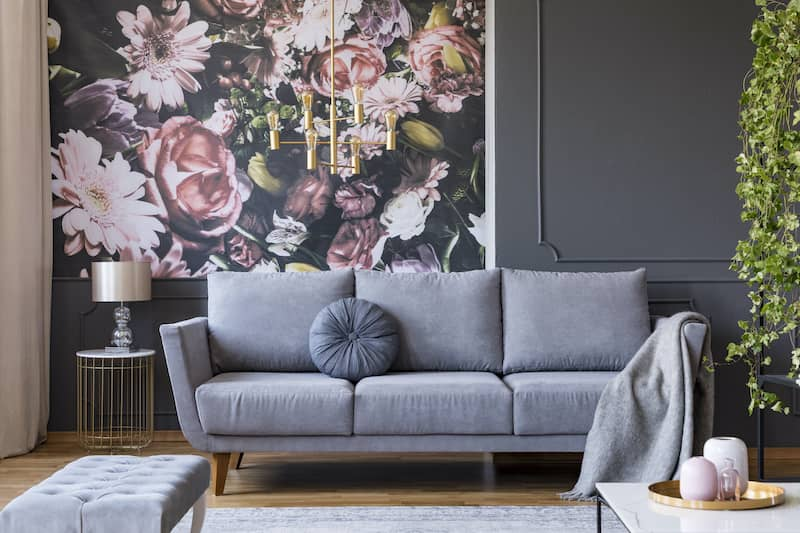 Floral Mural Style Wallpaper Trend