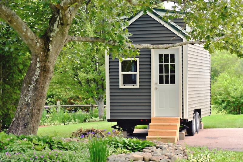 Grey tiny house