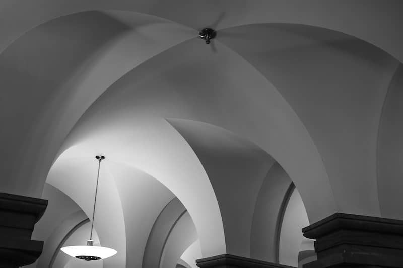 Greyscale 4-prong ceiling from US Capitol