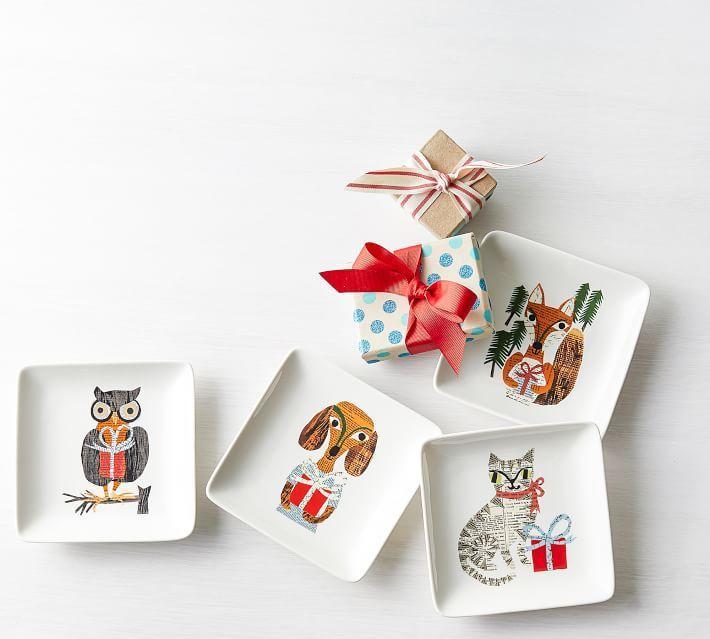 Denise Fiedler Whimsical Animals Appetizer Plates