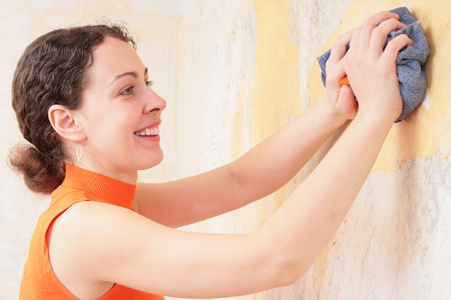 freshen up walls of home-for-holidays-by scrubbing scuffs smudges