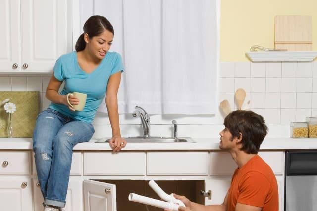 holiday kitchen reno unclog-drains-and install garbage disposal