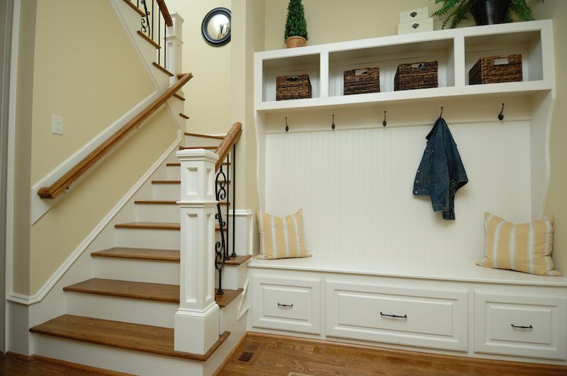 mudroom near stairs