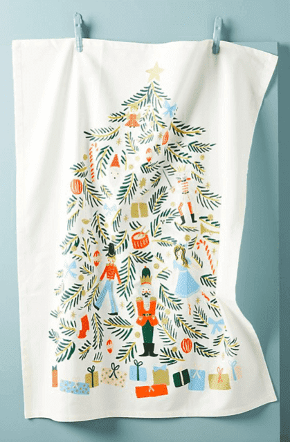 Rifle Paper Co. for Anthropology Nutcracker Dish Towel