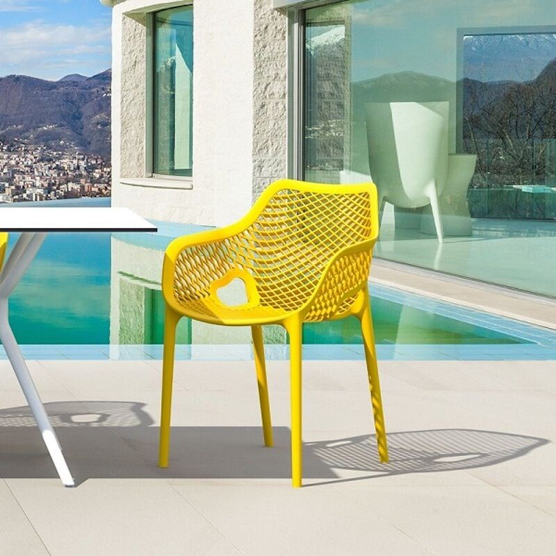 bright yellow patio chair