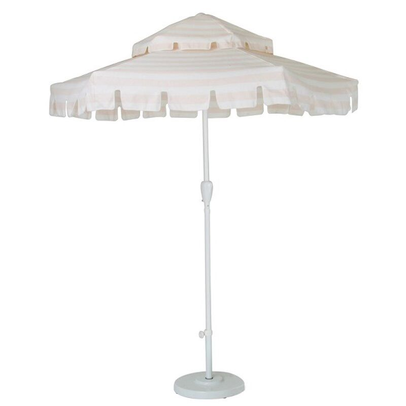 large white umbrella