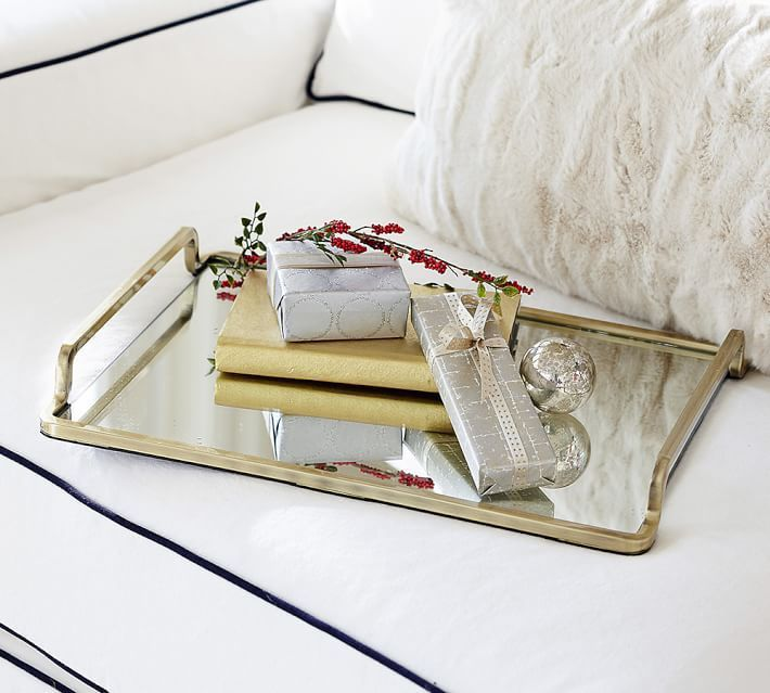Lynn Brass and Mirror Tray