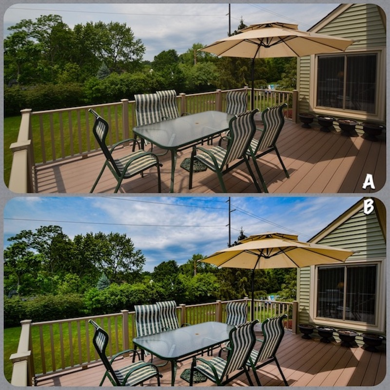 example of photo editing with patio images